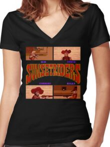 Sunset Riders (SNES) Women's Fitted V-Neck T-Shirt