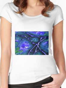~applique~ Women's Fitted Scoop T-Shirt