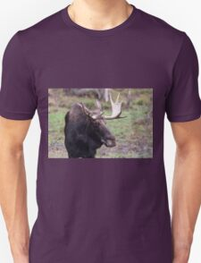 Large moose in a forest Unisex T-Shirt