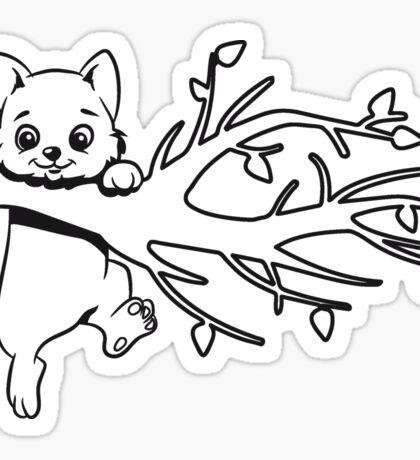 Katze baby süss ast klettern  Sticker