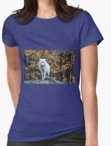 Arctic Wolf - Parc Omega, Quebec Womens Fitted T-Shirt
