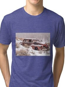 Auto in Snowstorm Tri-blend T-Shirt