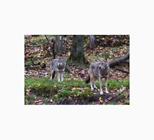 Pair of coyotes in a forest Unisex T-Shirt