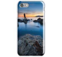 Fishing The Sunset #1 iPhone Case/Skin