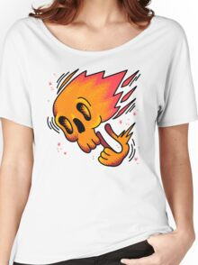 Skull on fire Women's Relaxed Fit T-Shirt