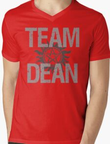 Supernatural Team Dean Mens V-Neck T-Shirt