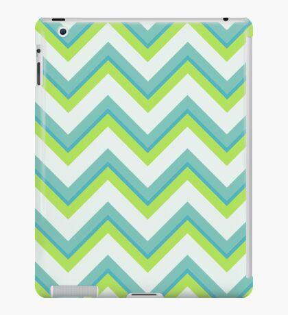 Zig zag, chevron, mint,lime,white, green, modern,trendy,pattern iPad Case/Skin