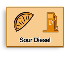 Sour Diesel Design  Canvas Print