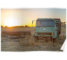 Old Bedford Truck Rests Peacefully..... Poster