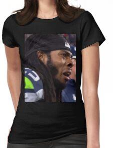 Sad Richard Sherman Womens Fitted T-Shirt