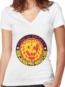 NJPW Women's Fitted V-Neck T-Shirt
