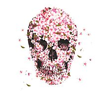 Flower skull Photographic Print