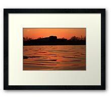 Lake of Fire Framed Print