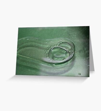 Alien bubble. Greeting Card