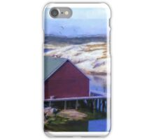 Red Fishing Shed on the Cove iPhone Case/Skin