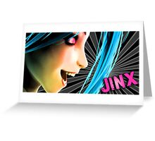 Jinx Design Print Greeting Card
