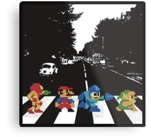 Nintendo Sprites on Abbey Road Metal Print