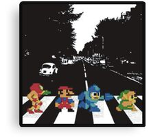 Nintendo Sprites on Abbey Road Canvas Print