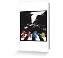 Nintendo Sprites on Abbey Road Greeting Card