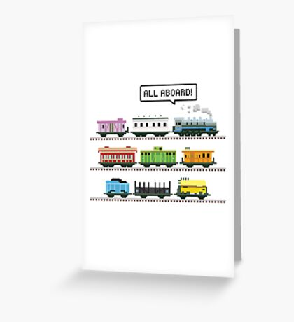 Ticket All Aboard Greeting Card