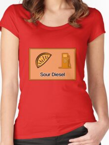 Sour Diesel Design  Women's Fitted Scoop T-Shirt