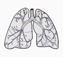 Hand-drawn Lungs Kids Clothes