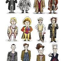 The 12 Doctors by DocHackenbush