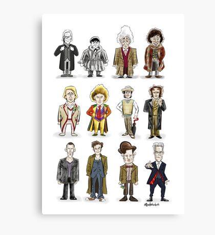 The 12 Doctors Canvas Print