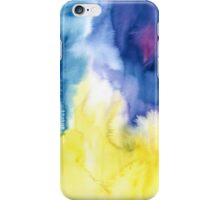 Abstract watercolor - yellow, blue and purple iPhone Case/Skin