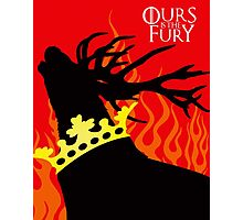 Game of Thrones Baratheon Ours is the Fury Crowned Stag Photographic Print
