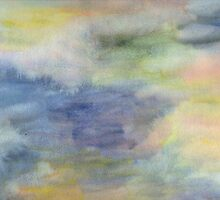 Abstract watercolor. Twilight. by Especia