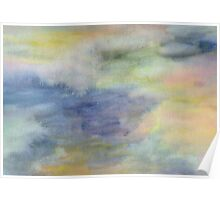 Abstract watercolor. Twilight. Poster