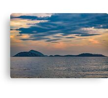Landscape Scene from Ipanema Beach Rio de Janeiro Brazil Canvas Print