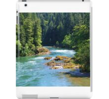 BEAUTIFUL FLOWING OREGON RIVER IN THE WOODS iPad Case/Skin