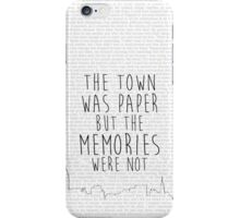 The Town Was Paper iPhone Case/Skin