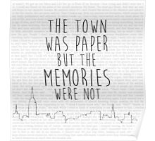 The Town Was Paper Poster