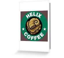 Helix Coffee ~ Color Greeting Card
