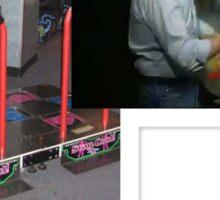 Raf Simons Bob ross dance dance revolution extreme  Sticker