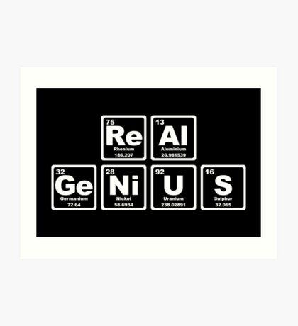 Real Genius - Periodic Table Art Print