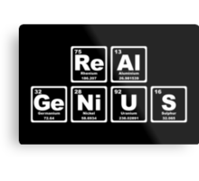 Real Genius - Periodic Table Metal Print