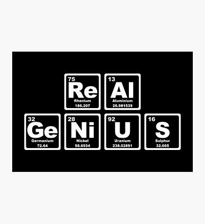 Real Genius - Periodic Table Photographic Print