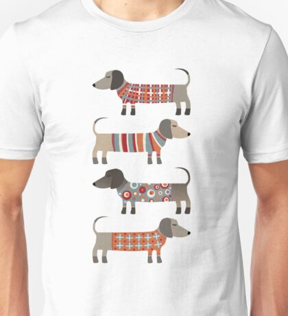 Sausage Dogs in Sweaters Unisex T-Shirt