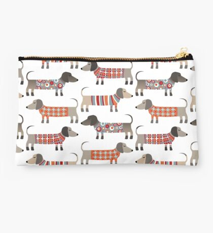 Sausage Dogs in Sweaters Studio Pouch