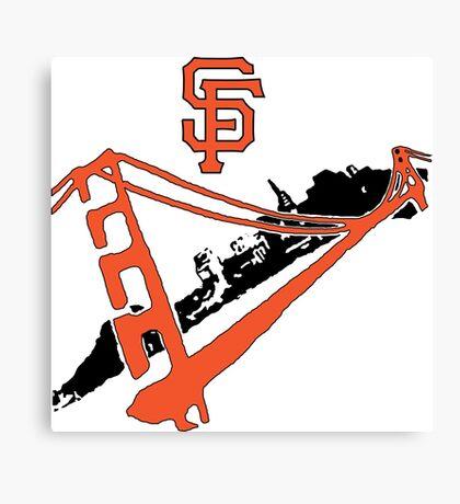 San Francisco Giants Stencil Canvas Print
