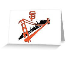 San Francisco Giants Stencil Greeting Card