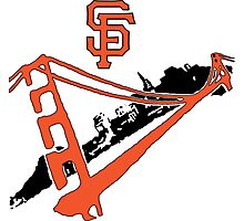 San Francisco Giants Stencil Photographic Print