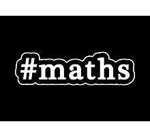 Maths - Hashtag - Black & White Photographic Print