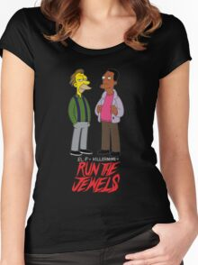 Run The Jewels Lenny and Carl Parody Women's Fitted Scoop T-Shirt
