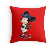 The Red Sox & Mickey Throw Pillow