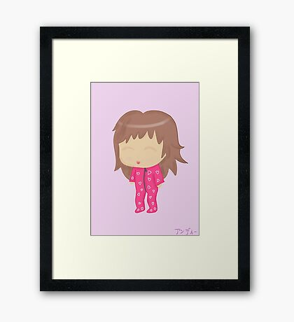 Cute chibi Framed Print